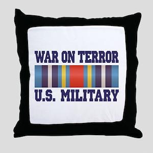 War On Terror Service Ribbon Throw Pillow