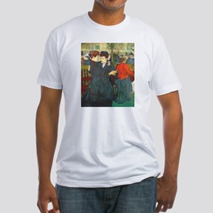 Two Women Dancing Fitted T-Shirt