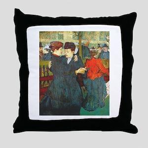 Two Women Dancing Throw Pillow