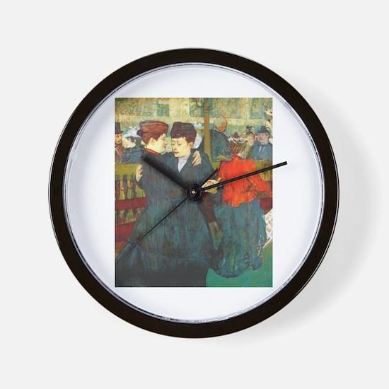 Two Women Dancing Wall Clock