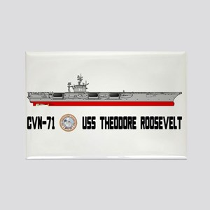 USS Theodore Roosevelt CVN-71 Rectangle Magnet