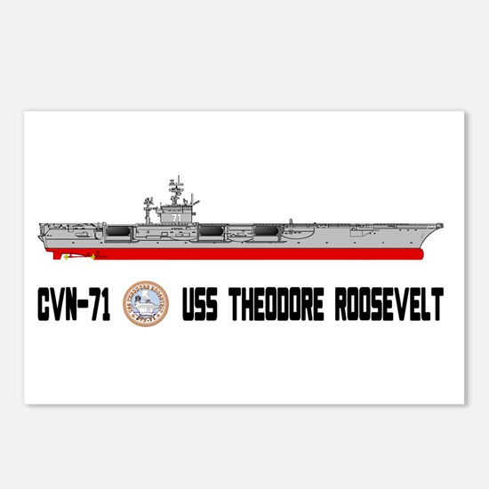 USS Theodore Roosevelt CVN-71 Postcards (Package o