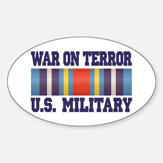 War On Terror Service Ribbon Sticker (Oval)