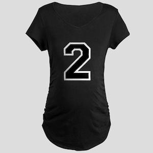 Varsity Font Number 2 Maternity Dark T-Shirt