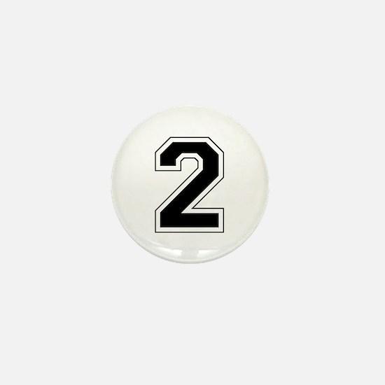Varsity Font Number 2 Mini Button