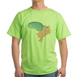 Flying Pig #2 Design Green T-Shirt