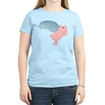 Flying Pig #2 Design Women's Light T-Shirt