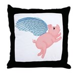 Flying Pig #2 Design Throw Pillow