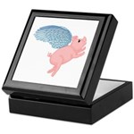 Flying Pig #2 Design Keepsake Box