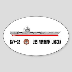 USS Lincoln CVN-72 Oval Sticker