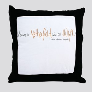 Caroline Bingley Netherfield Throw Pillow