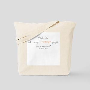 Caroline Bingley Orange Tote Bag