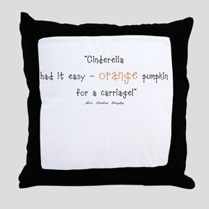 Caroline Bingley Orange Throw Pillow