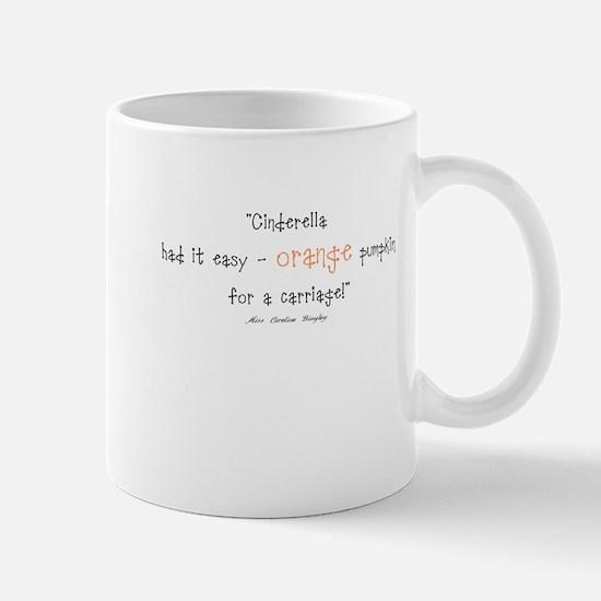 Caroline Bingley Orange Mug