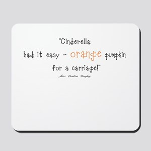 Caroline Bingley Orange Mousepad