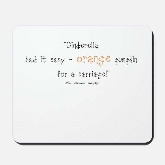 Caroline Bingley Orange Mousepad