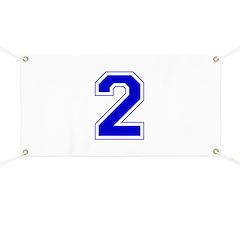 Varsity Font Number 2 Blue Banner