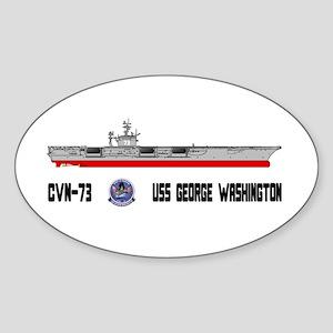 USS Washington CVN-73 Oval Sticker
