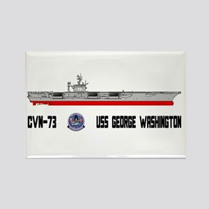 USS Washington CVN-73 Rectangle Magnet