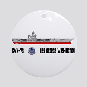USS Washington CVN-73 Ornament (Round)