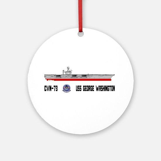 USS Washington CVN-73 Ornament (Round)