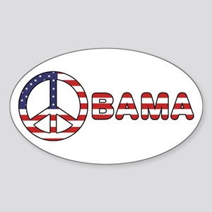 Obama Peace Sign Oval Sticker