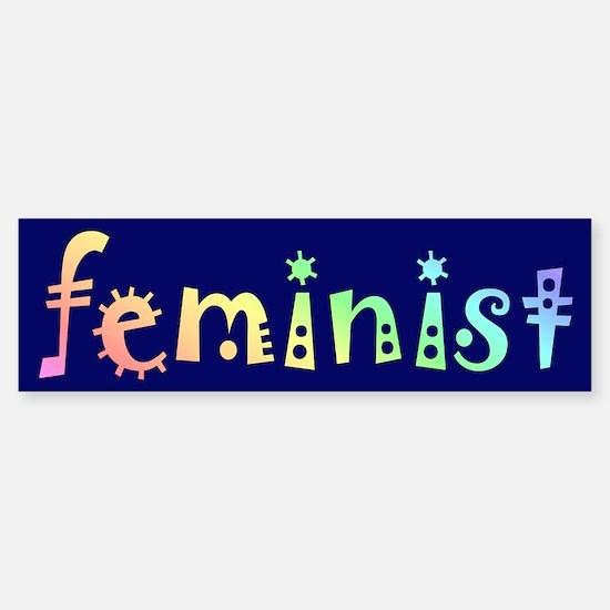 FEMINIST Bumper Bumper Bumper Sticker
