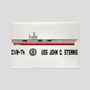 USS Stennis CVN-74 Rectangle Magnet
