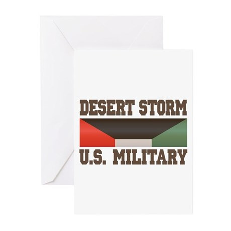 Desert Storm Service Ribbon Greeting Cards (Pk of