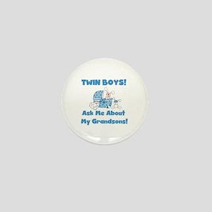 Grandma Twin Boys Mini Button