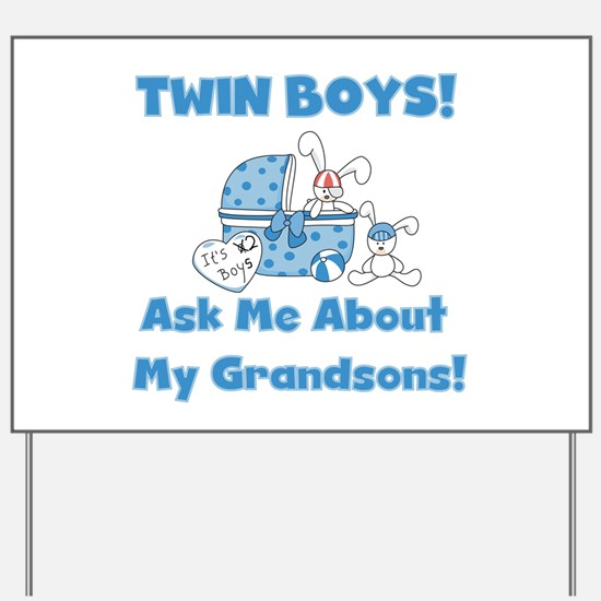 Grandma Twin Boys Yard Sign