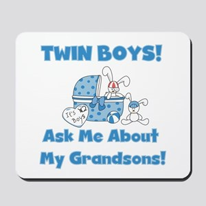 Grandma Twin Boys Mousepad