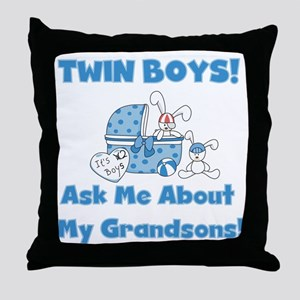 Grandma Twin Boys Throw Pillow