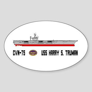 USS Truman CVN-75 Oval Sticker