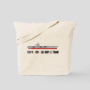 USS Truman CVN-75 Tote Bag