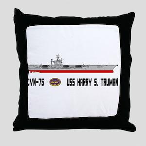 USS Truman CVN-75 Throw Pillow