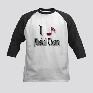 Love Musical Theatre Kids Baseball Jersey