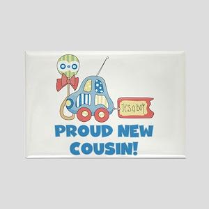 Proud New Cousin Rectangle Magnet