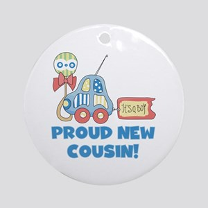 Proud New Cousin Ornament (Round)
