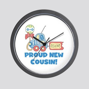 Proud New Cousin Wall Clock