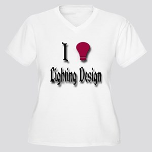 Love Lighting Design Women's Plus Size V-Neck T-Sh