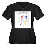 SpecGram NLP Women's Plus Size V-Neck Dark T-Shirt