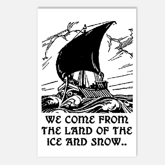 THE LAND OF ICE AND SNOW Postcards (Package of 8)