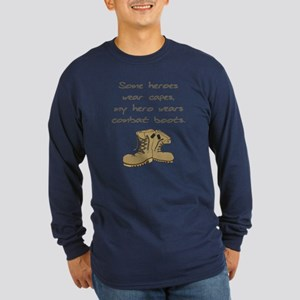 Some Heroes Wear Capes Long Sleeve Dark T-Shirt
