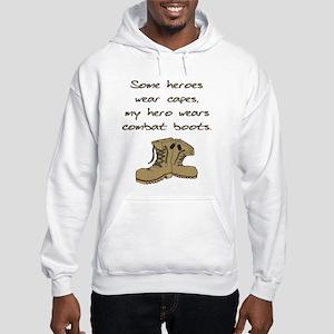Some Heroes Wear Capes Hooded Sweatshirt