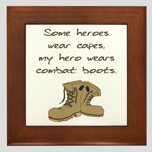 Some Heroes Wear Capes Framed Tile