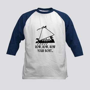 ROW, ROW, ROW YOUR BOAT Kids Baseball Jersey