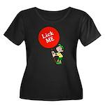 Lick Me Women's Plus Size Scoop Neck Dark T-Shirt