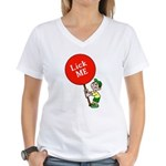 Lick Me Women's V-Neck T-Shirt