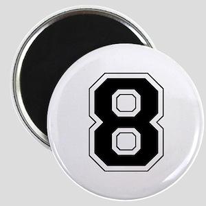 Varsity Font Number 8 Black Magnet